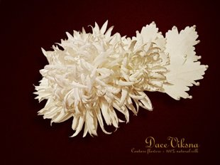 Aster from natural silk